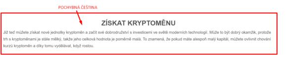 Cryptoeddu - pochybná češtiny